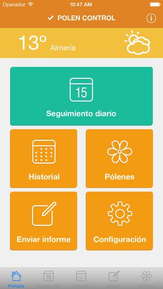 App polen control